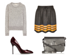 Pull over: Vanessa Bruno; Skirt: Topshop; Bag: Alexander Wang; Shoes: Sergio Rossi