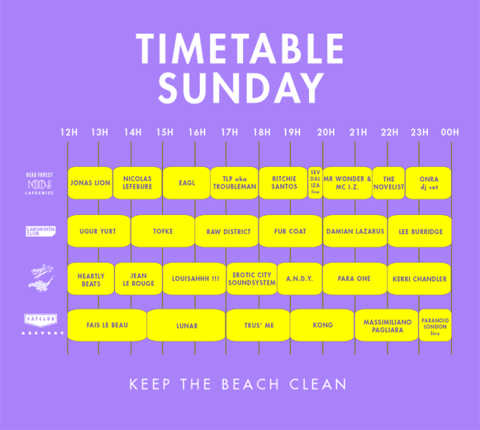 timetable-sunday